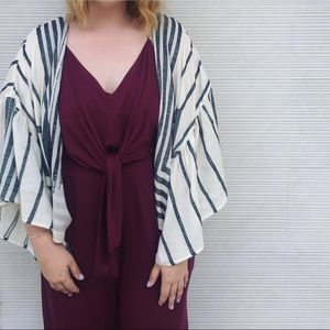 Maroon Anthropologie Jumpsuit
